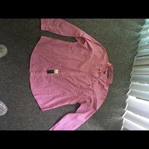 Ralph Lauren Men's XXL pink check shirt